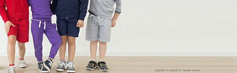 bright kids basics buy 1, get 1 50% off equal or lesser value