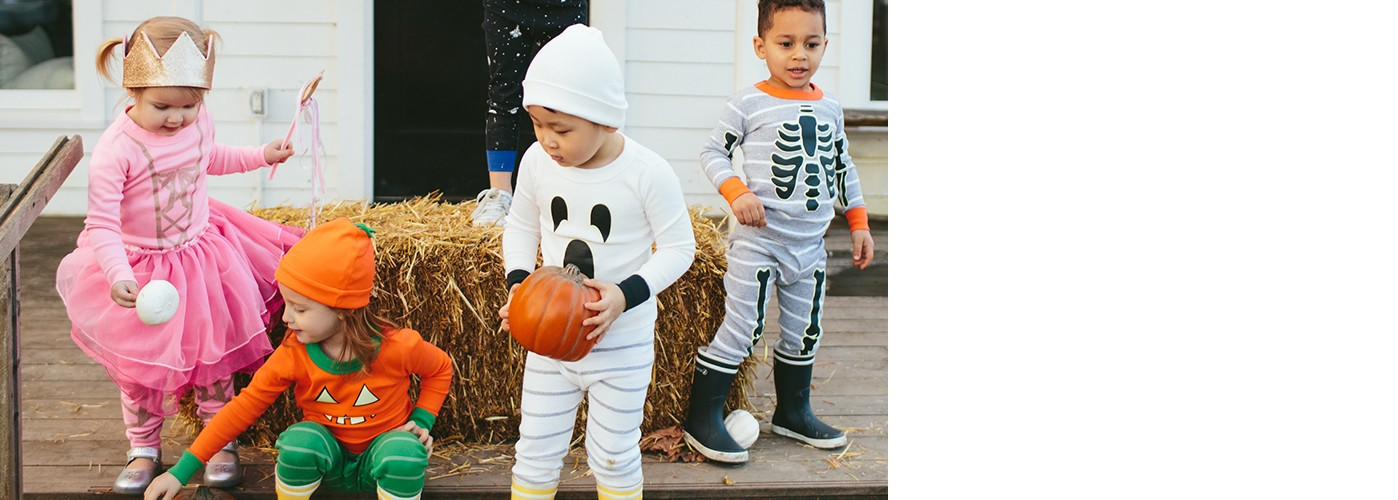 who will you be? when you cozy organic pjs are your halloween costume, it's a double win