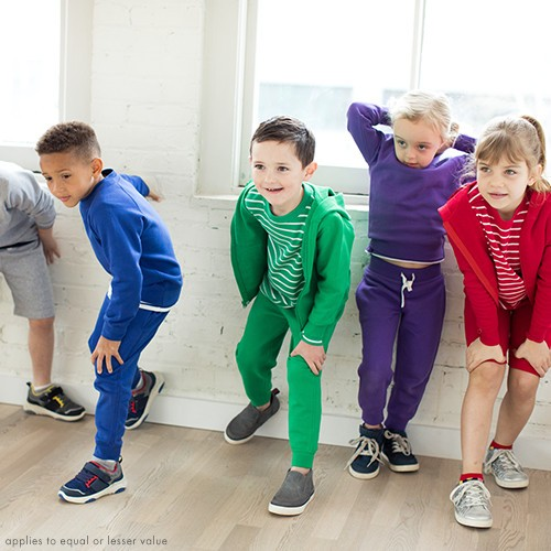 bright kids basics buy 1, get 1 50% off equal or lesser value shop all kids basics