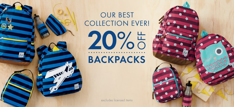 Our best collection ever! 20% off backpacks