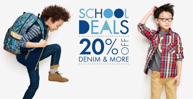 Shop Boys School Deals 20% Off Denim & More Sale