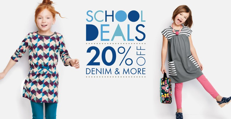Shop Girls School Deals 20% Off Denim and More Sale