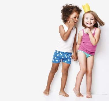 Shop Sale 20% Off Organic Unders for girls and boys