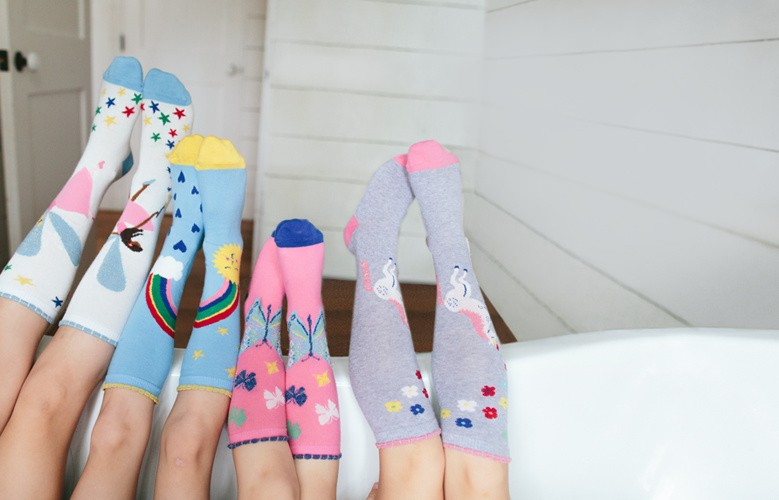 Happy feet. European crafted socks feel supercomfy and they're mom faves because they last. Shop new girls socks.