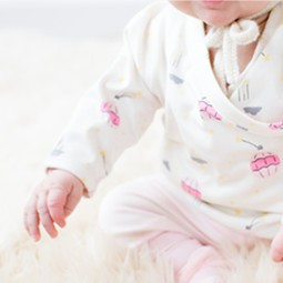 two-piece layette wiggle set