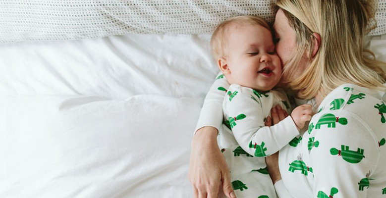 shop organic cotton sleepers for baby