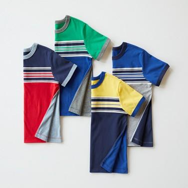 stripeblock tees in sueded jersey shop every color
