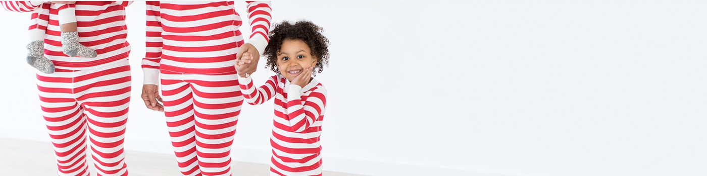 classic stripes in white & red; pure organic cotton for blissful comfort and purity on even the most sensitive skin