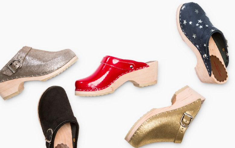 Swedish Clogs, handcrafted & shimmery-fun! Shop clogs!