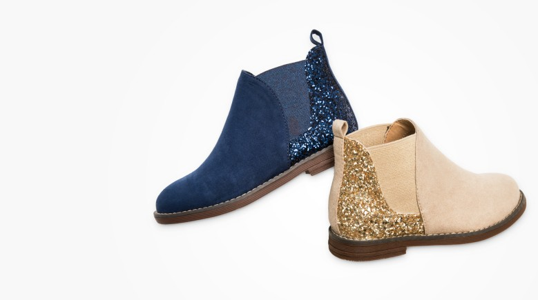 Glitter Boots! Our perfect not-so-basic boots have super comfy softness inside!