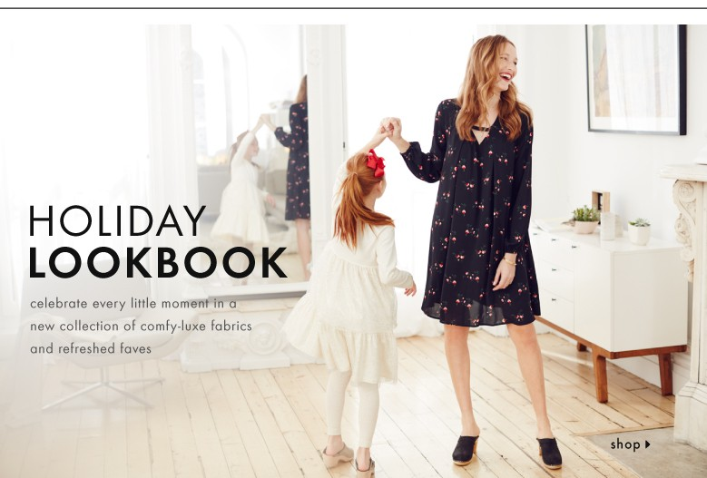 Shop our first holiday dress look