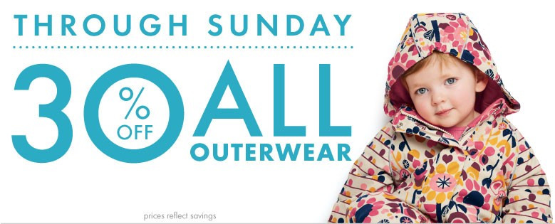 Shop Baby outerwear sale 30% off today