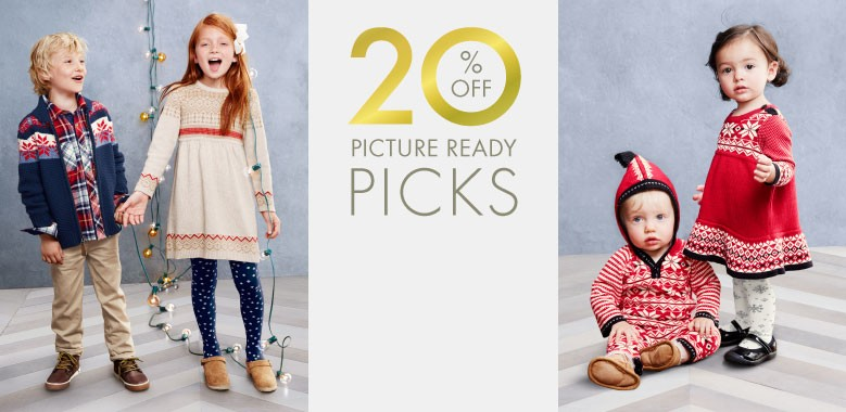 Shop Sale 20% Off Picture Ready Picks for Girls, Boys, and Baby