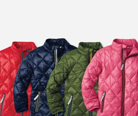 Superlight Down; Girls and Boys outerwear