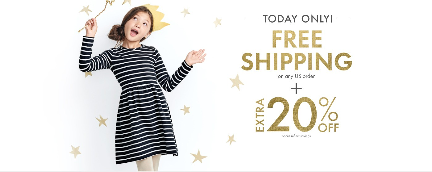 Today Only! Free Shipping; US orders, savings appear at checkout + Extra 20% Off; Yup, sale items too!