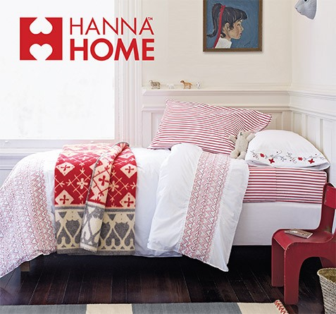 Hanna Home; Featuring HannaSoft™ Sheets; Shop now