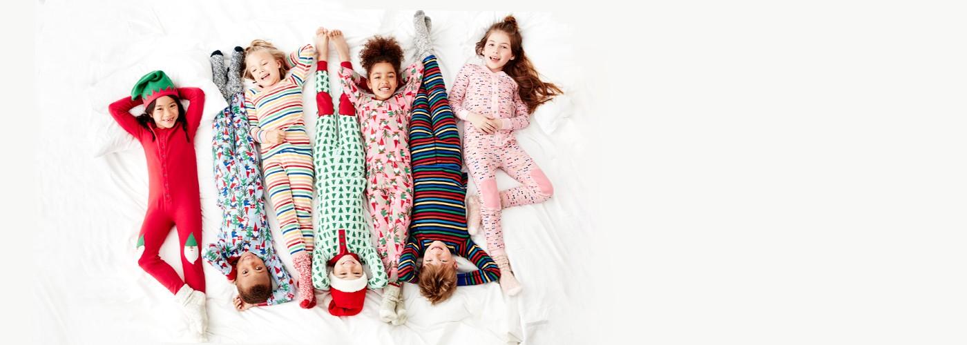 25% off sleighloads of holiday sleepwear girls, boys, baby