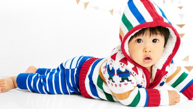 Shop cozy & bright baby basics