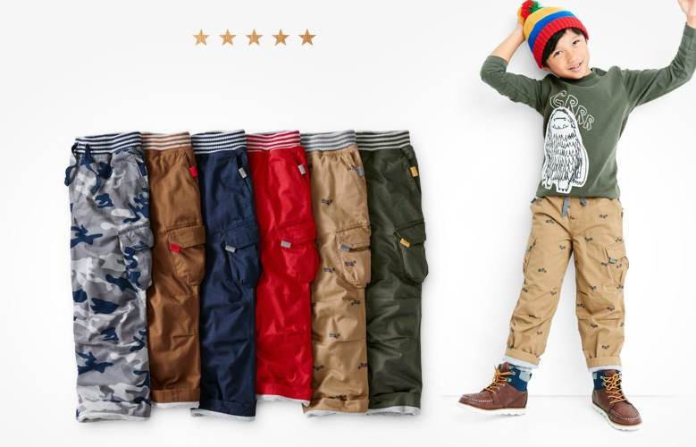 lined cargos double cozy shop them all