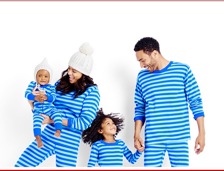 they're here family collections we've made it fast and easy to shop matching family hannas shop pajamas and sweaters