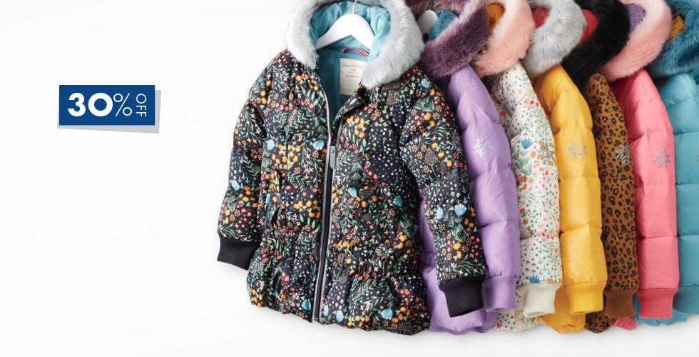 30% off all outerwear and cozy accessories shop now