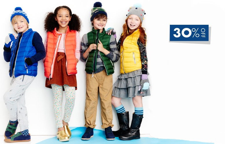 30% off best ever outerwear. Shop girls, boys, and baby.