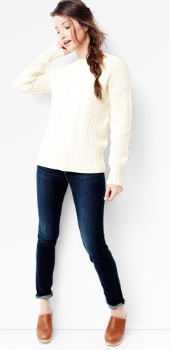 shop our cable sweater & pant look for women