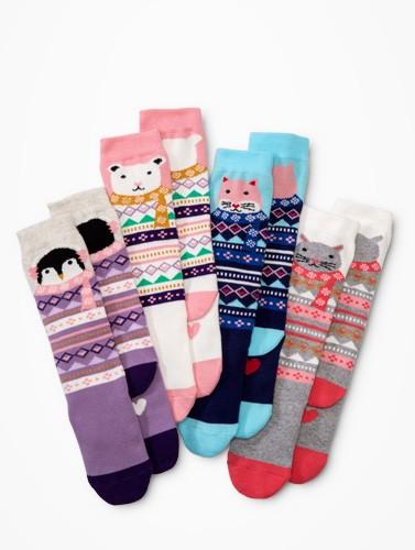 Pitter pattern. Shop lots of socks!