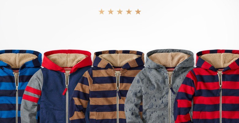 5 star faves Sherpa hoodie shop now