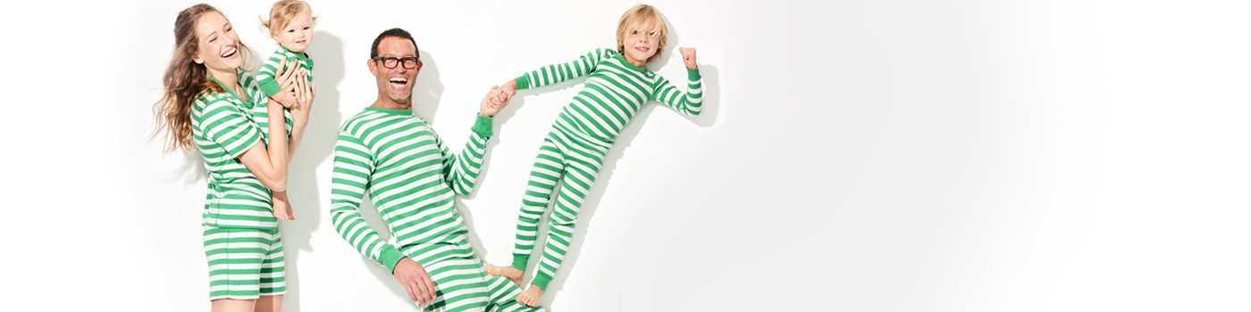 classic stripes in happy green; pure and soft in organic cotton