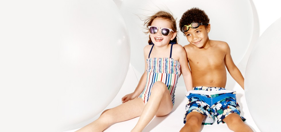 H2O headquarters: 25% off swim! Block the sun, not the fun in supercrafted suits; Girls, Boys, Baby