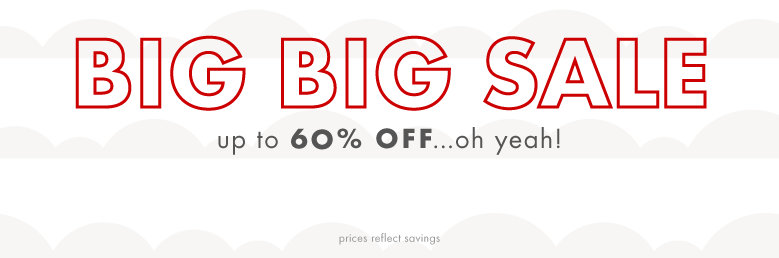 Big Big Sale up to 60% off oh yeah shop by size