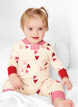 Shop Baby BE MY VALENTINE baby sleepers