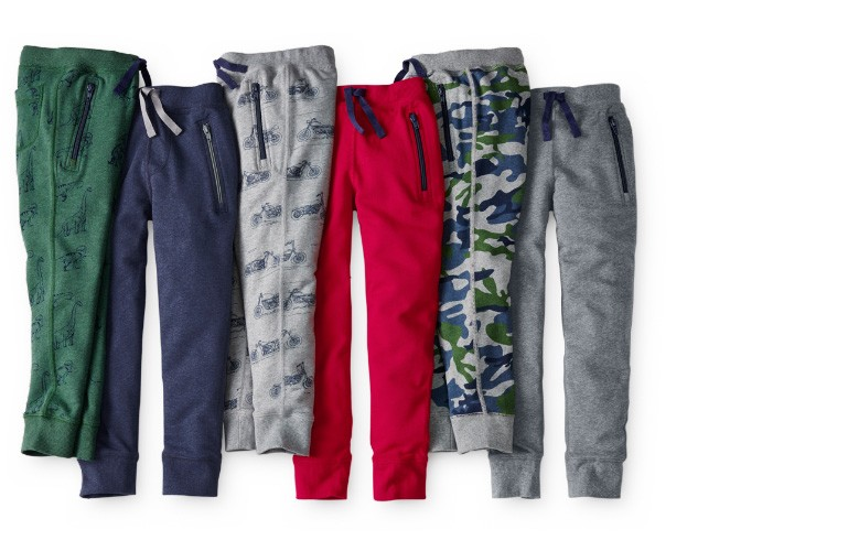 cozies rock slim sweats in French terry shop now