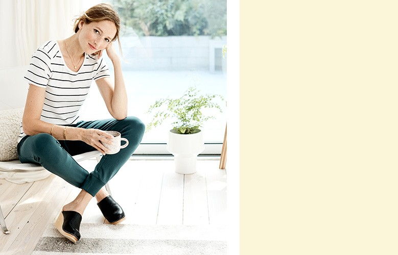 shop our women's comfy top and pant look