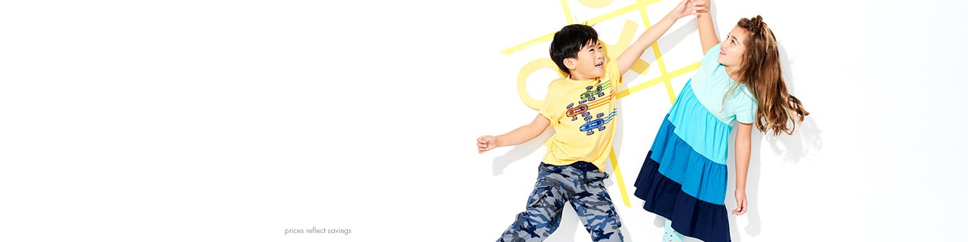 30% off kids clothes + shoes now through sunday, excludes sleepwear and baby prices reflect savings