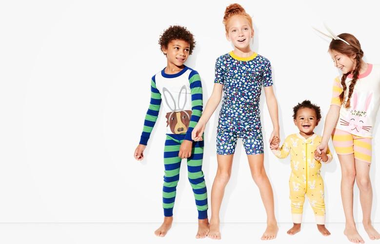shop Easter celebration pajamas for kids