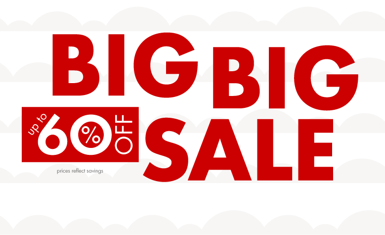 Big Big Sale up to 60% off Shop sale by size. Size help