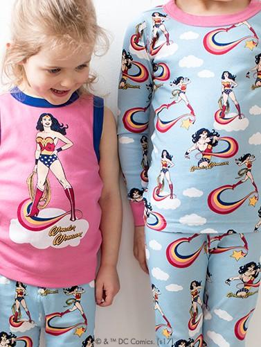 wonder woman pj's for little super heroes shop now