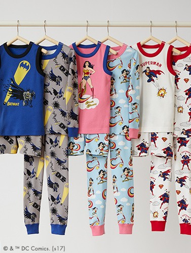shop new kids DC Comics pajamas