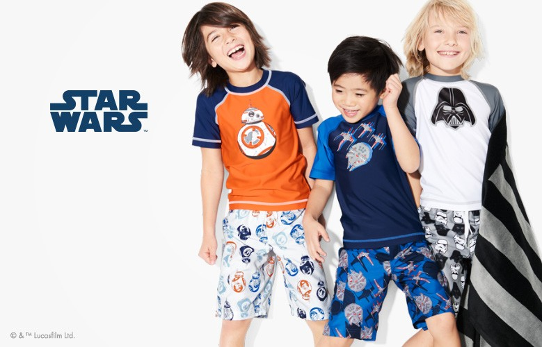 Star Wars! Our first ever Star Wars swimwear is making a giant splash. Shop it all!