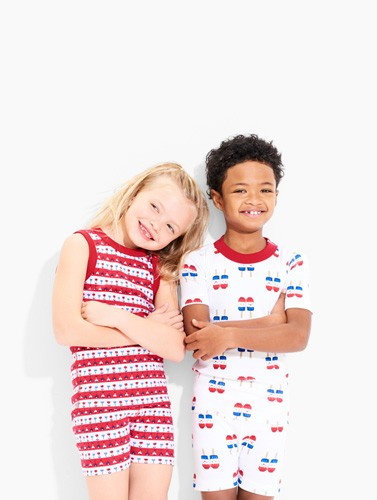shop new pajamas in red, white & blue