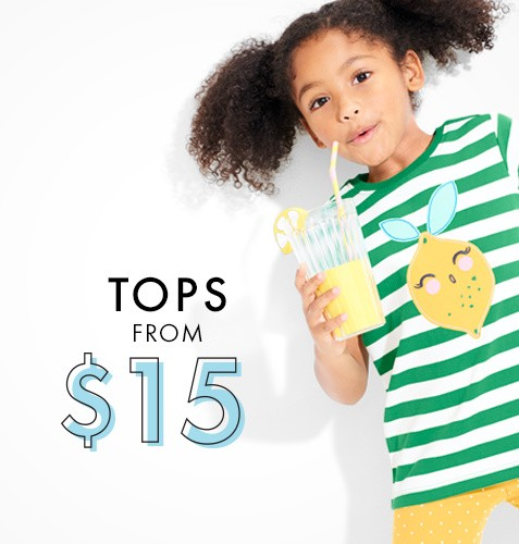 Tops from $15. Shop now.