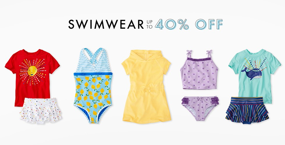 Swimwear up to 40% off. Shop now.