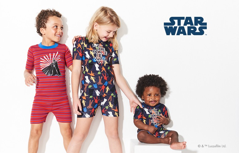 Star Wars glow in the dark pj's for all: may the force be with you.