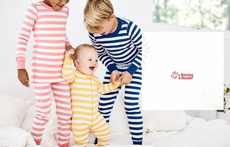 help raise a reader with organic pj purchase