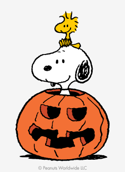 the peanuts gang halloween art tees