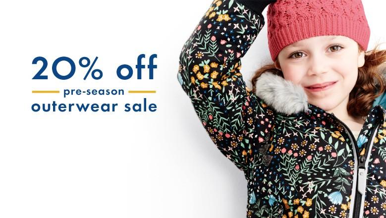 20% off pre season outerwear sale shop new colors