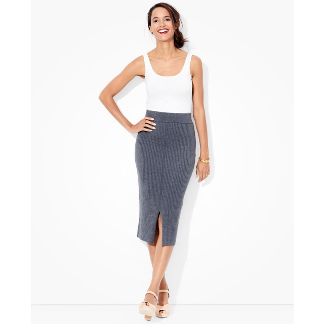 Women's Luxe Ribbed Midi In Cotton Cashmere by Hanna Andersson