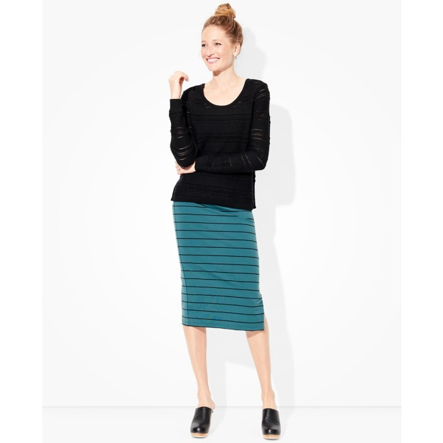 Women's Metro Zip Midi Skirt by Hanna Andersson